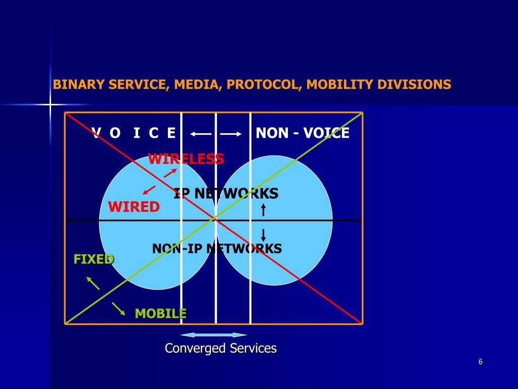 BINARY SERVICE, MEDIA, PROTOCOL, MOBILITY DIVISIONS
