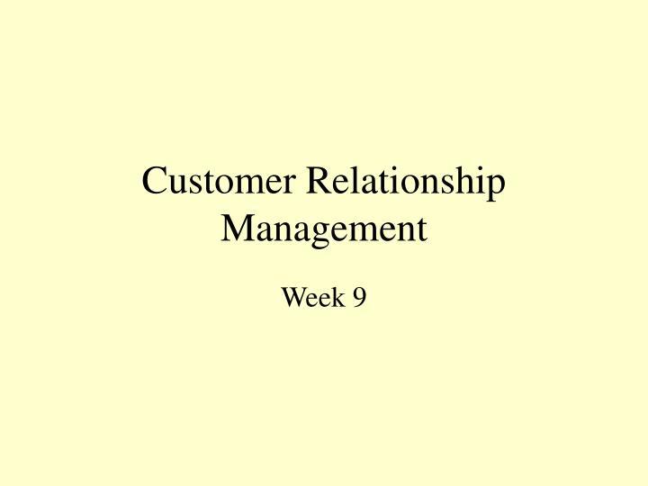 customer relationship management n.