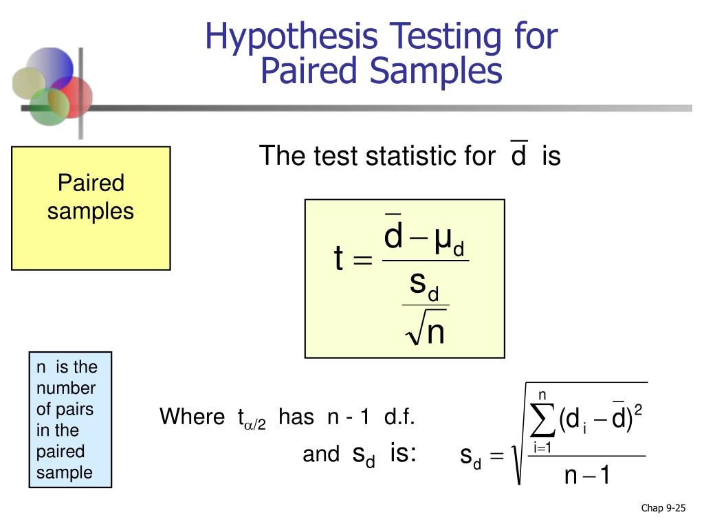 Hypothesis Testing for Paired Samples