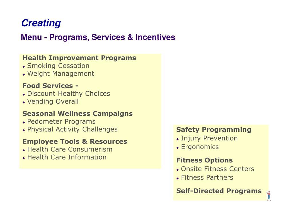 Health Improvement Programs