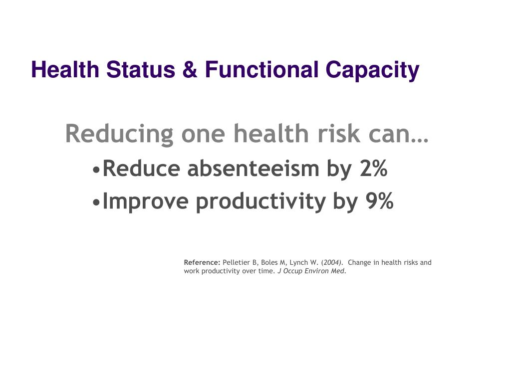 Health Status & Functional Capacity