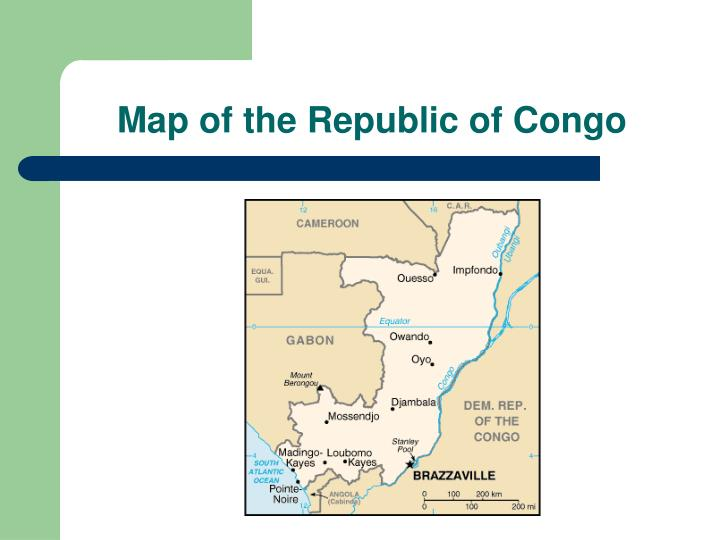 Map of the republic of congo