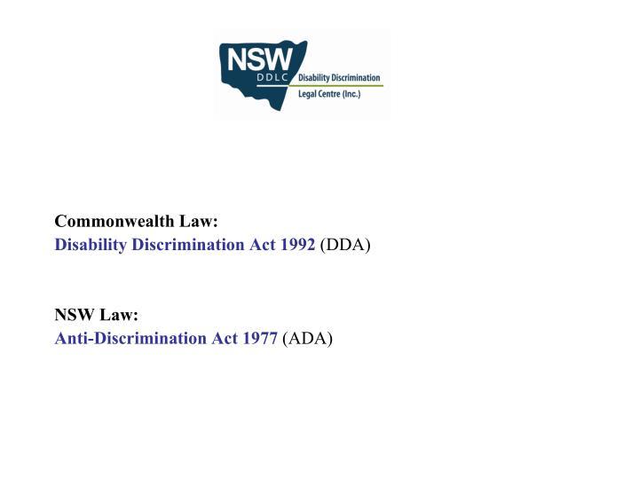 Commonwealth Law: