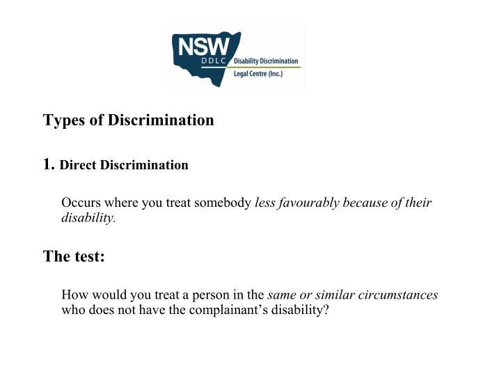Types of Discrimination