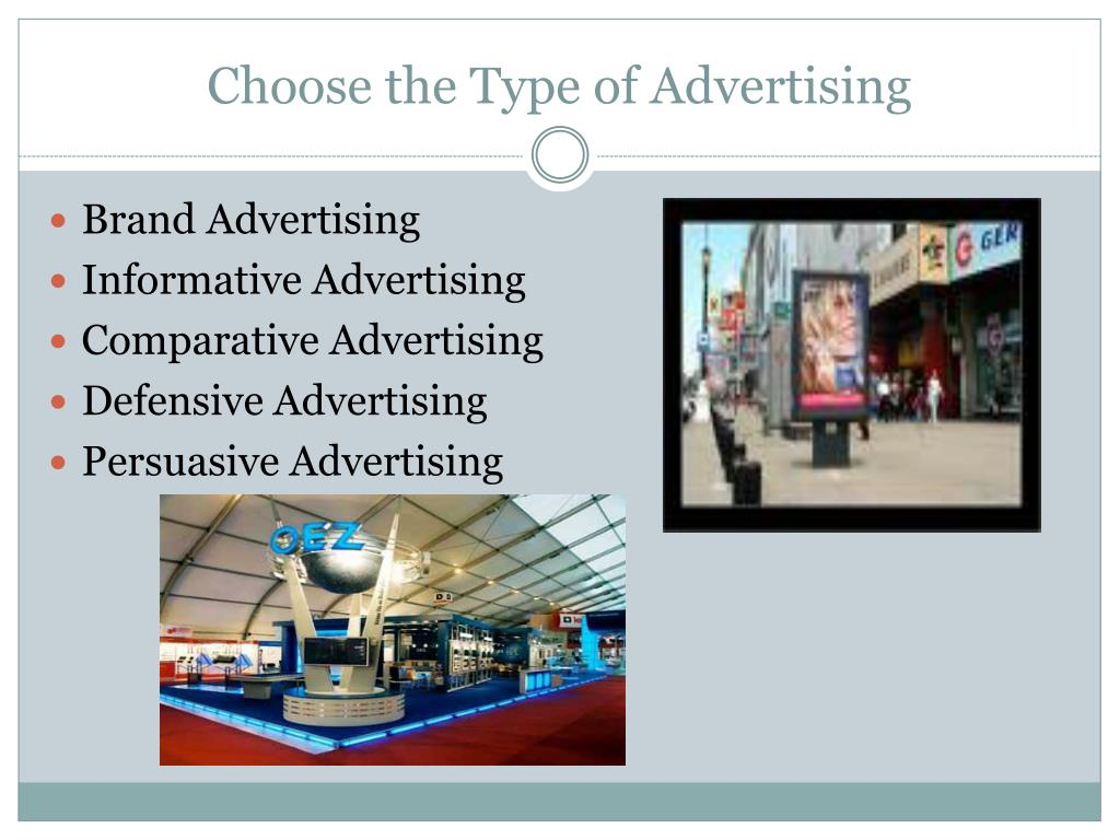 Choose the Type of Advertising