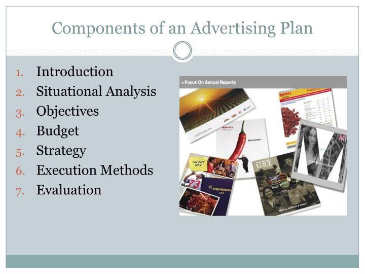 Components of an advertising plan