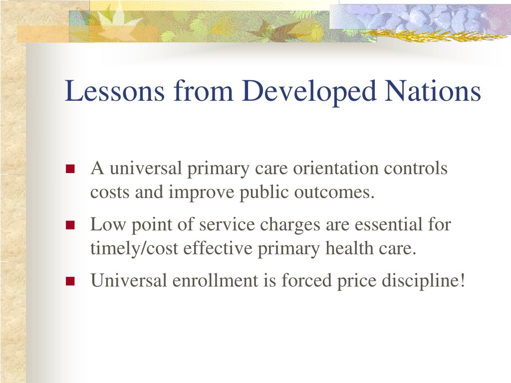 Lessons from Developed Nations