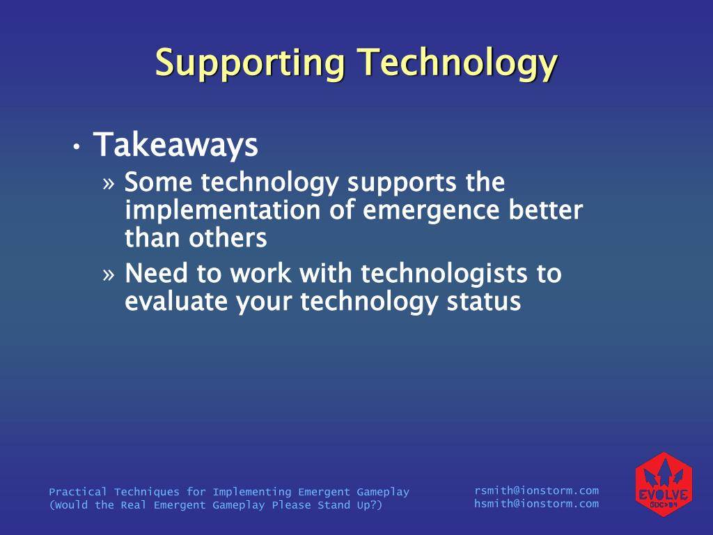 Supporting Technology