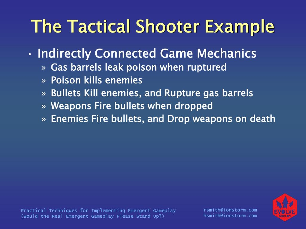 The Tactical Shooter Example