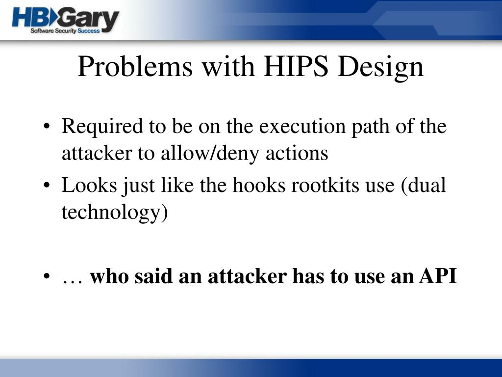 Problems with HIPS Design