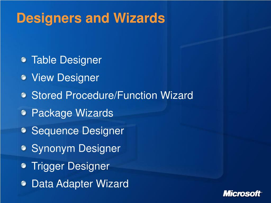 Designers and Wizards