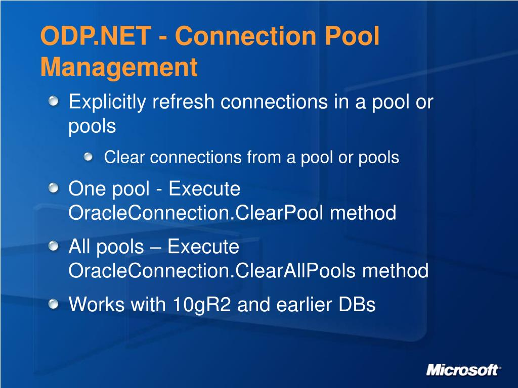ODP.NET - Connection Pool Management
