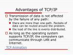 advantages of tcp ip17