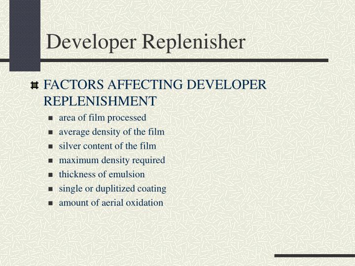 Developer Replenisher