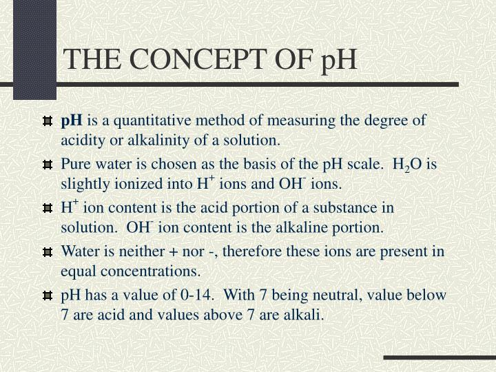 The concept of ph