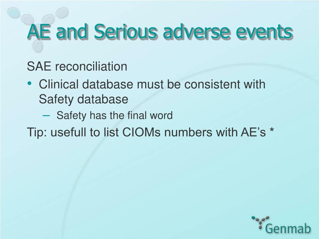 AE and Serious adverse events