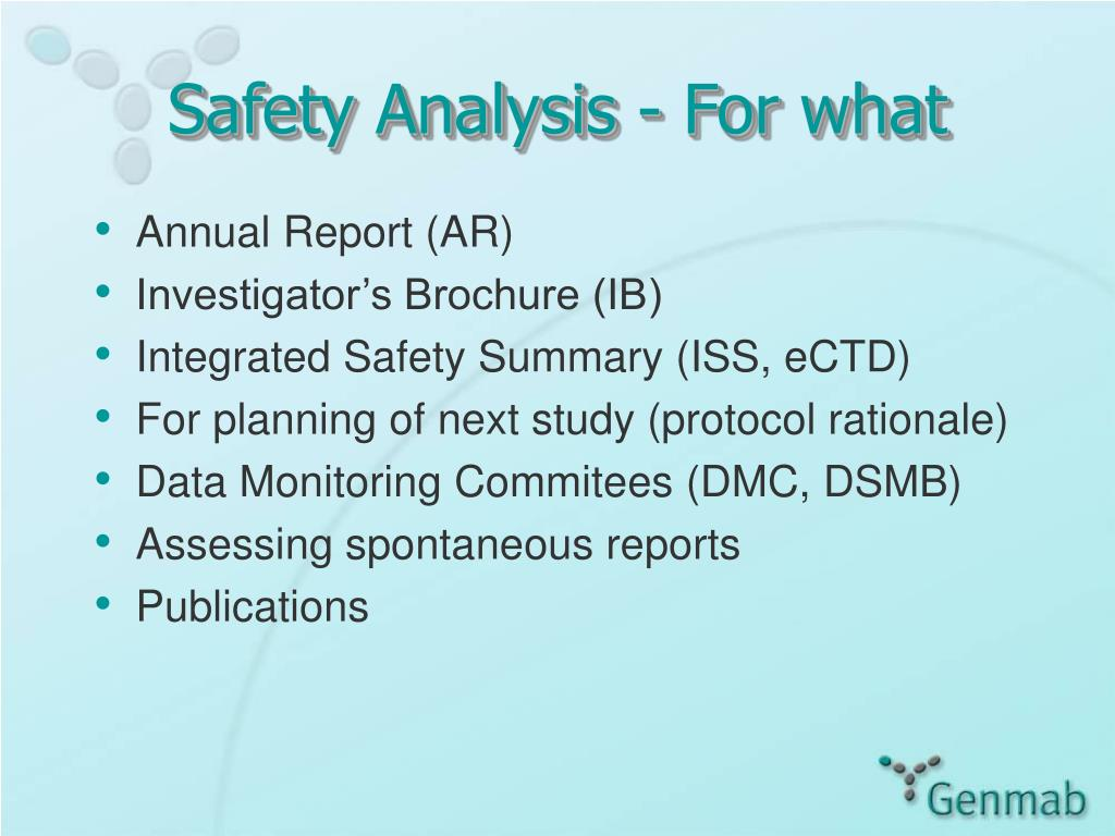Safety Analysis - For what