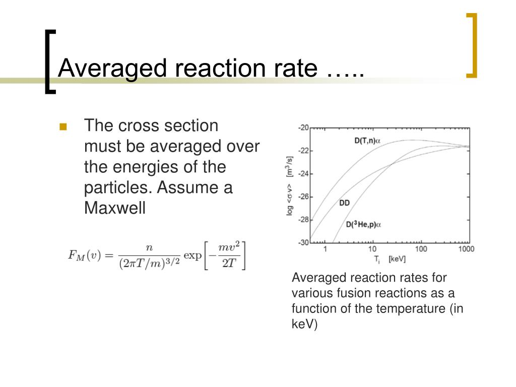 Averaged reaction rate …..