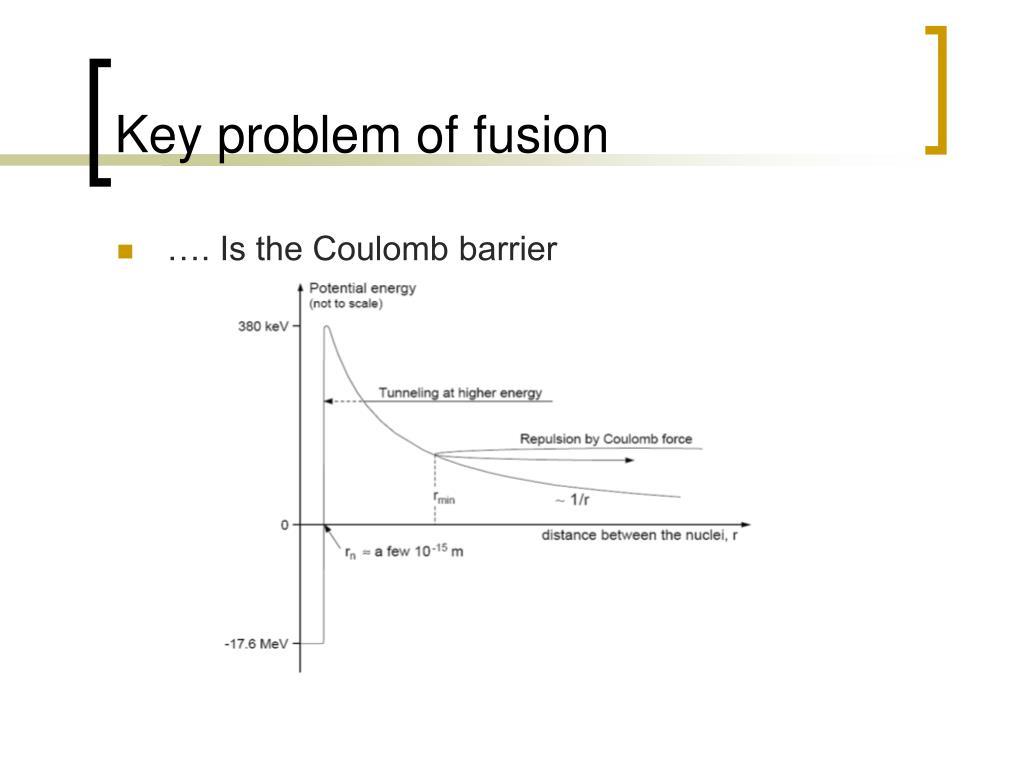 Key problem of fusion