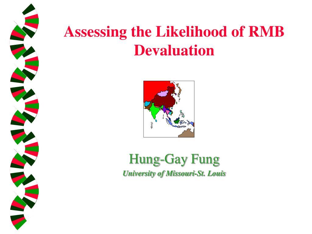 Assessing the Likelihood of RMB Devaluation