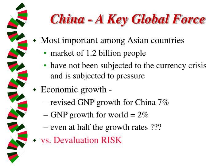 China a key global force