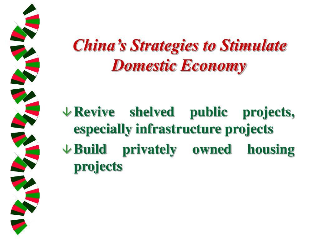 China's Strategies to Stimulate Domestic Economy