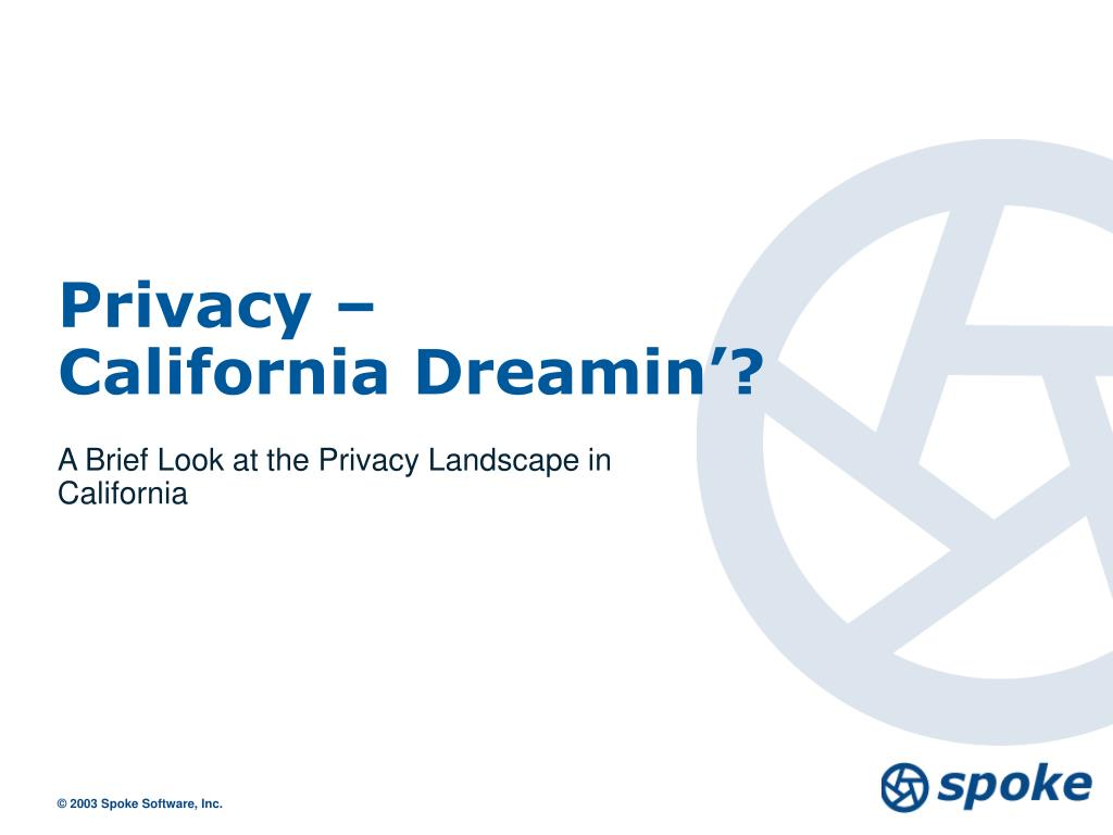 privacy california dreamin