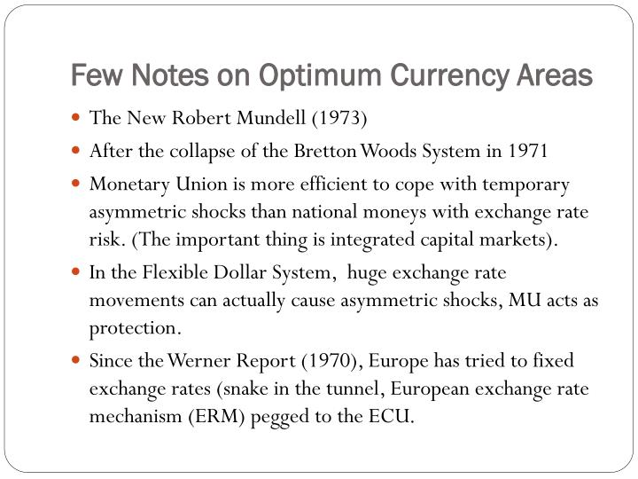 Few notes on optimum currency areas3