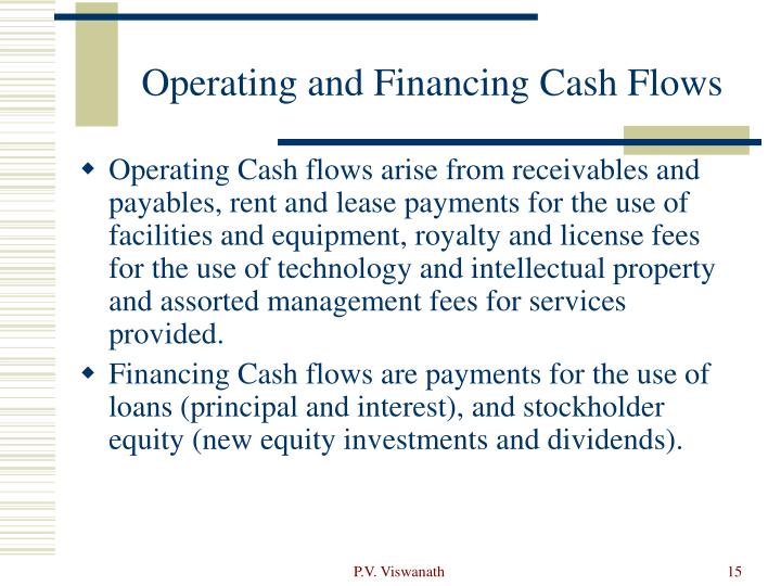 Operating and Financing Cash Flows