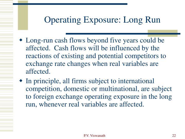 Operating Exposure: Long Run