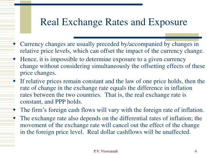 Real Exchange Rates and Exposure