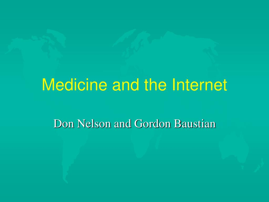 medicine and the internet l.