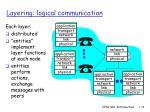 layering logical communication