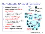 the nuts and bolts view of the internet