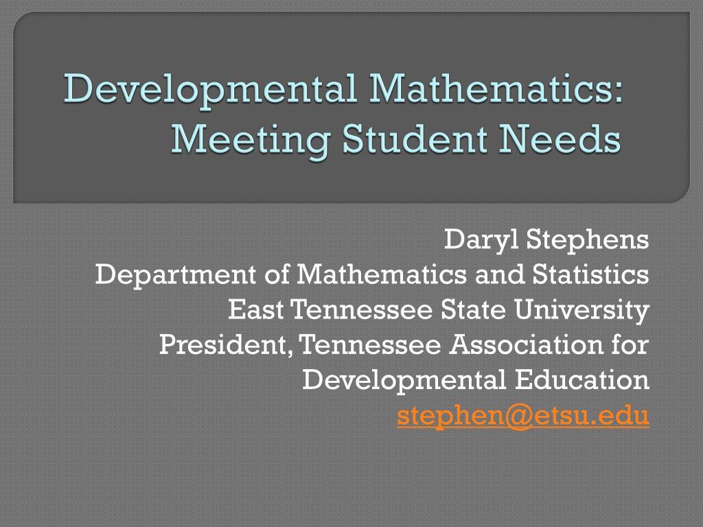 developmental mathematics meeting student needs
