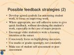 possible feedback strategies 2