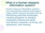 what is a human resource information system