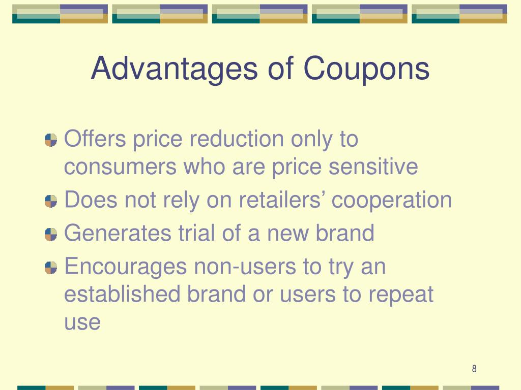 Advantages of Coupons