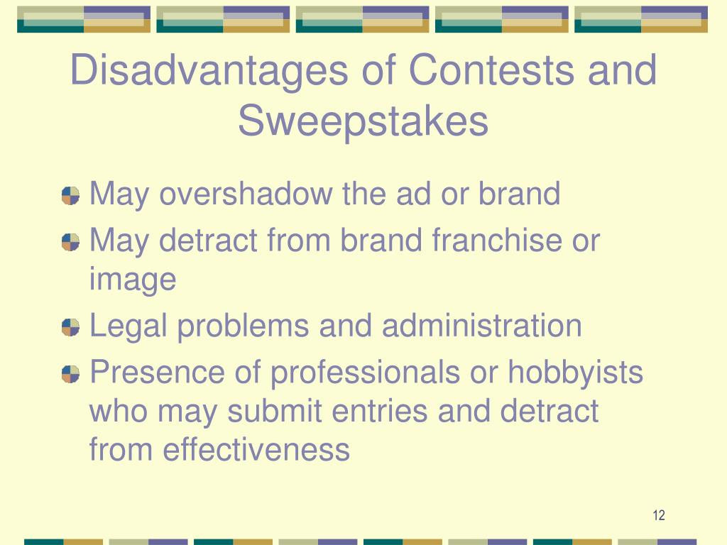 Disadvantages of Contests and Sweepstakes