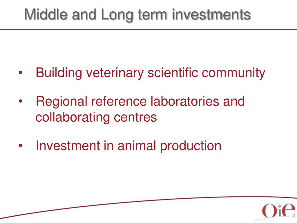Middle and Long term investments