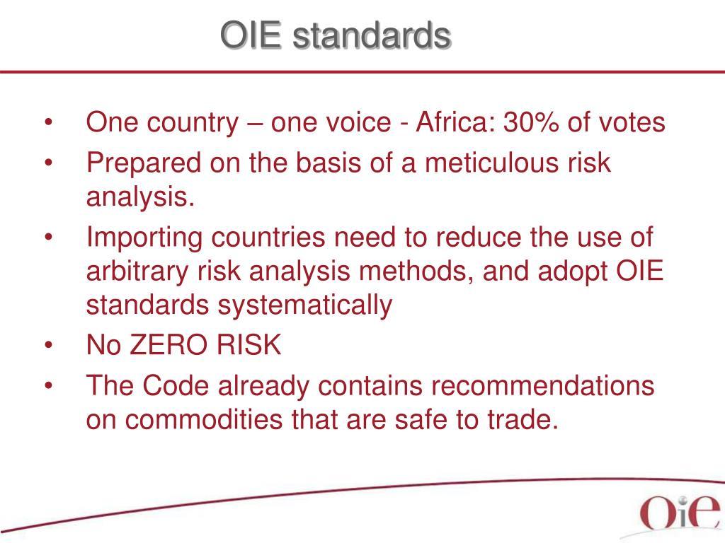 OIE standards