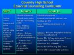 coventry high school essential counseling curriculum