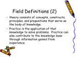 field definitions 2