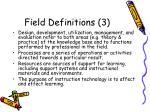 field definitions 3