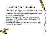train certification