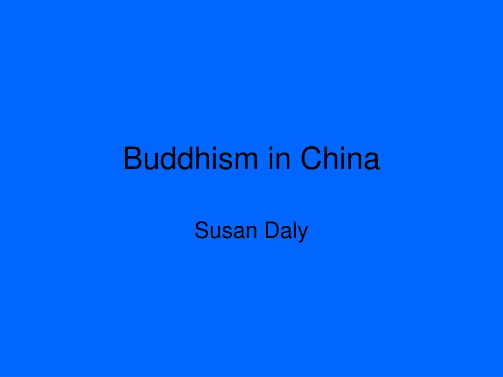 buddhism in china l.