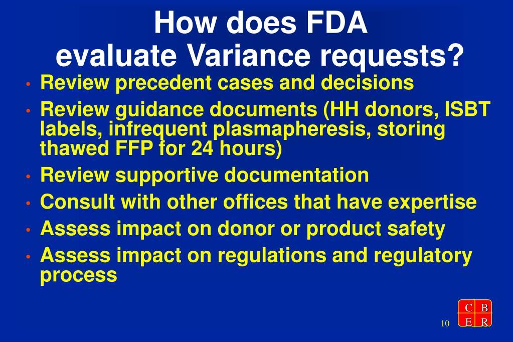 How does FDA