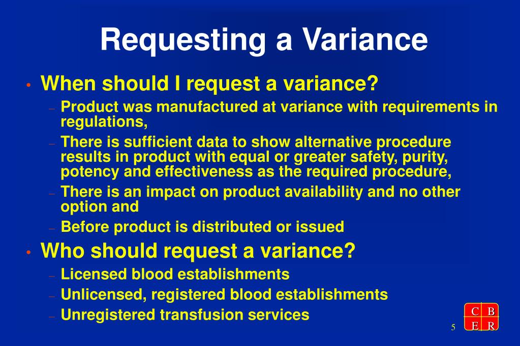 Requesting a Variance