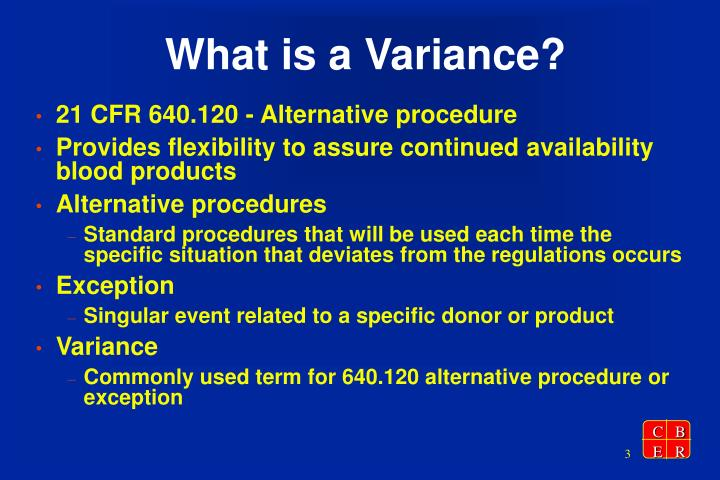 What is a variance