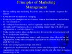 principles of marketing management